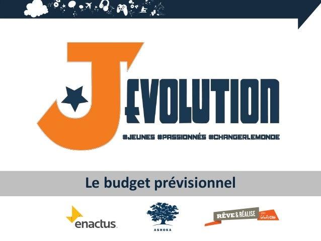 Le budget prévisionnel