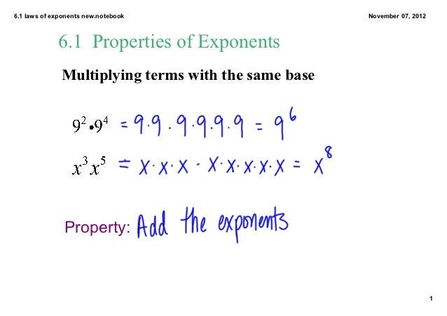 61 properties of exponents – Properties of Exponents Worksheet