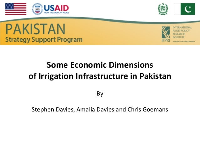 Some Economic Dimensionsof Irrigation Infrastructure in Pakistan                      ByStephen Davies, Amalia Davies and ...
