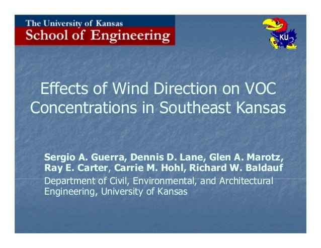 Effects of Wind Direction on VOC Concentrations in Southeast Kansas Sergio A. Guerra, Dennis D. Lane, Glen A. Marotz, Ray ...