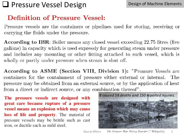 design of pressure vessel (thick and thin cylinders) may 2020 Slide 2