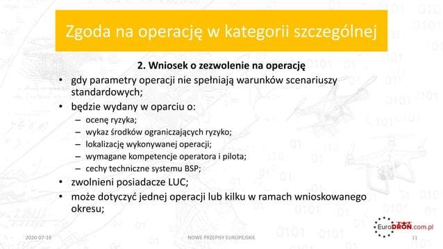 Zgoda na operację w kategorii szczególnej 2. Wniosek o zezwolenie na operację • gdy parametry operacji nie spełniają warun...