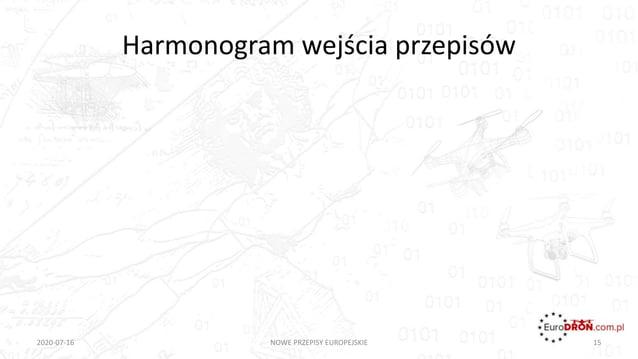 Harmonogram wejścia przepisów 2020-07-16 NOWE PRZEPISY EUROPEJSKIE 15