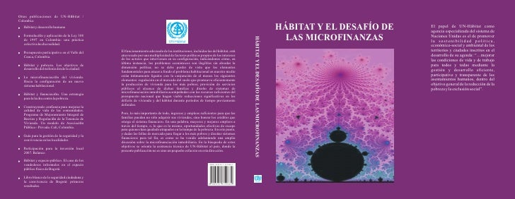 Otras publicaciones de UN-Hábitat /Colombia:  Hábitat y desarrollo humano                                                 ...