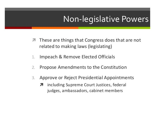 legislative power is the Section 1 all legislative powers herein granted shall be vested in a congress of the united states, which shall consist of a senate and house of representatives.