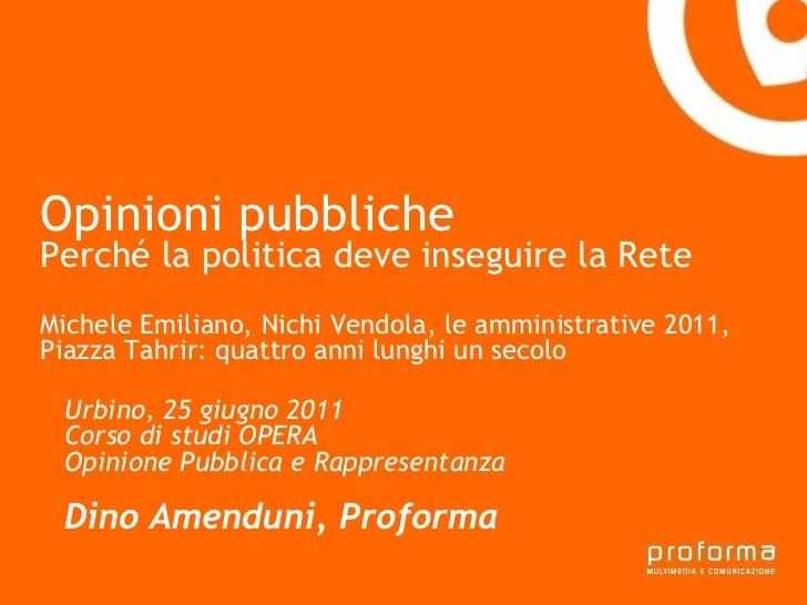 Strategia di comunicazione Gianni Florido e la Provincia di Taranto Opinioni pubbliche  Perché la politica deve inseguire ...