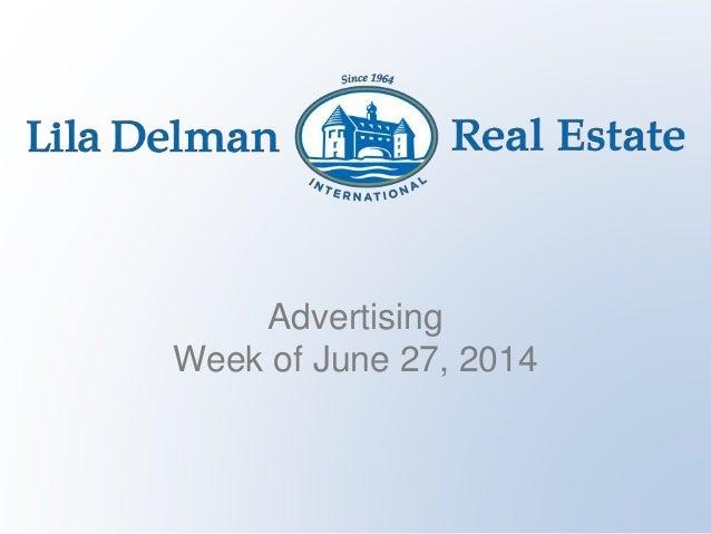Advertising Week of June 27, 2014