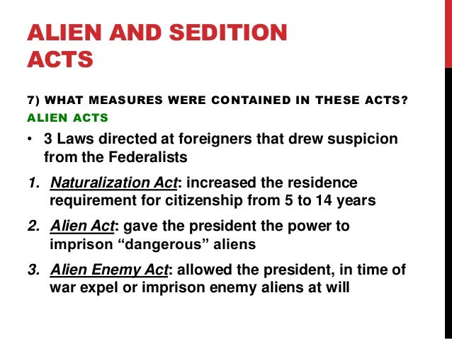 essay about alien and sedition acts The post what new powers do the alien and sedition acts grant to the federal government why do you think the congress and john adams passed and signed the alien and sedition acts into law appeared first on essay writing planet.