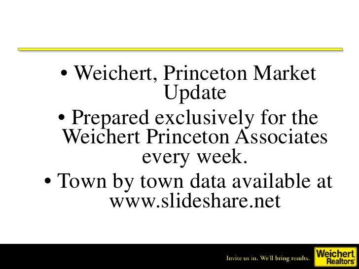 • Weichert, Princeton Market               Update   • Prepared exclusively for the   Weichert Princeton Associates        ...