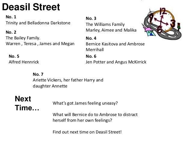 Deasil StreetNo. 1                                   No. 3Trinity and Belladonna Darkstone        The Williams FamilyNo. 2...