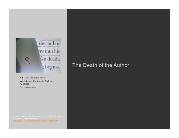 roland barthes death of the author citation