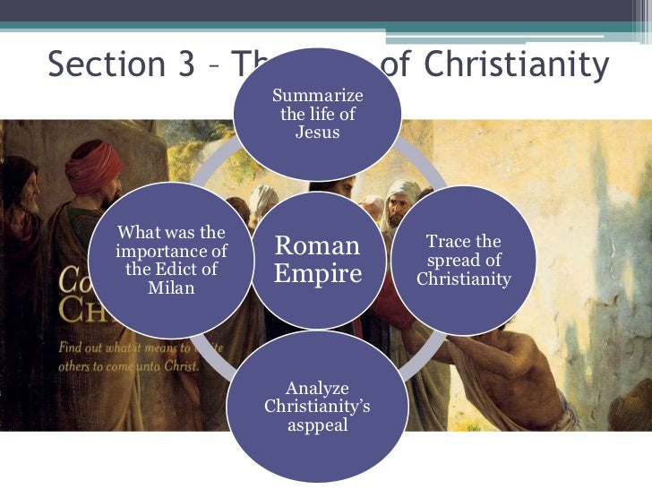 Section 3 – The Rise of Christianity                     Summarize                      the life of                       ...