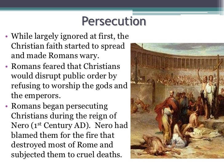 how persecution led to the early Written in the early fourth century ad, eusebius of caesarea's the history of the church is the first comprehensive chronological account in a long tradition of ecclesiastical history.