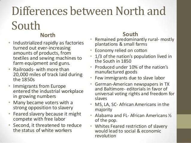 the advantages of the north over the south side in the american civil war Focusing on the advantages, and disadvantages, of both the union and confederate states and how that, if at all, affected the outcome of the civil war.