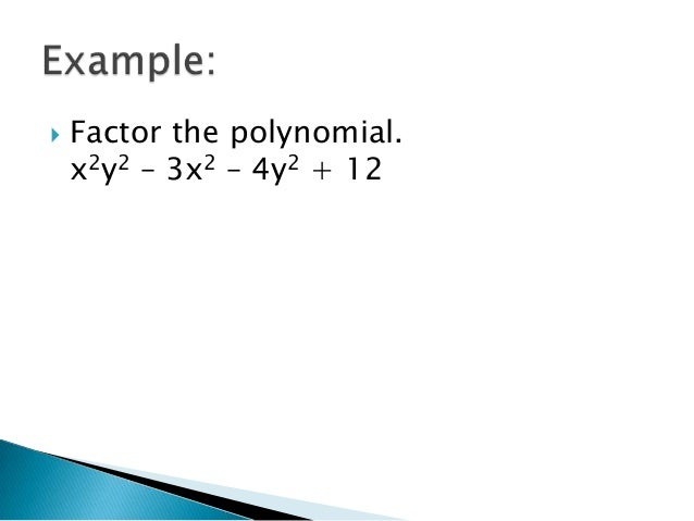 how to find the factors of a 4th degree polynomial