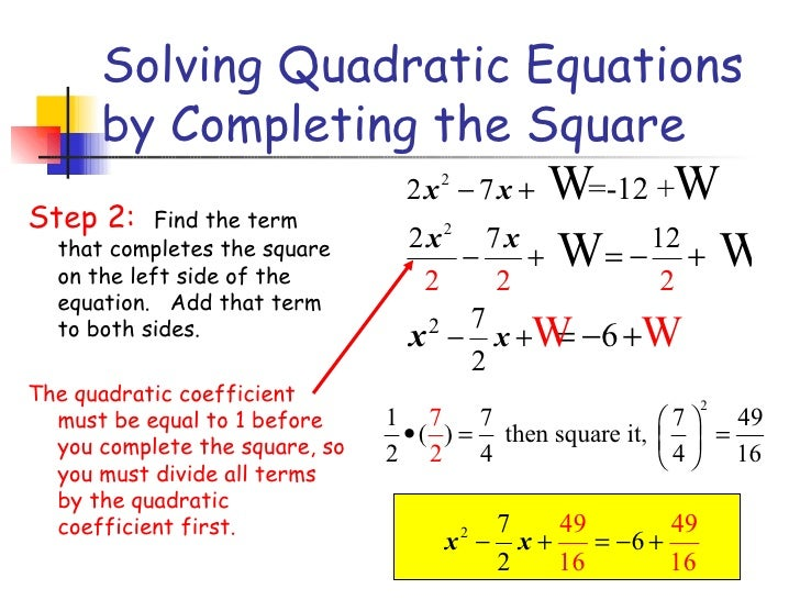 solving quadratics by completing the square worksheet doc kidz activities. Black Bedroom Furniture Sets. Home Design Ideas