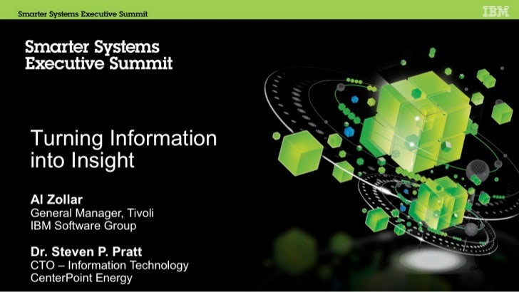 IBM Smarter Systems Executive Summit  for Blade Center 4