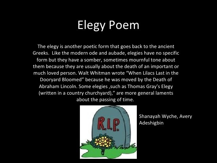 elegy poems - photo #11