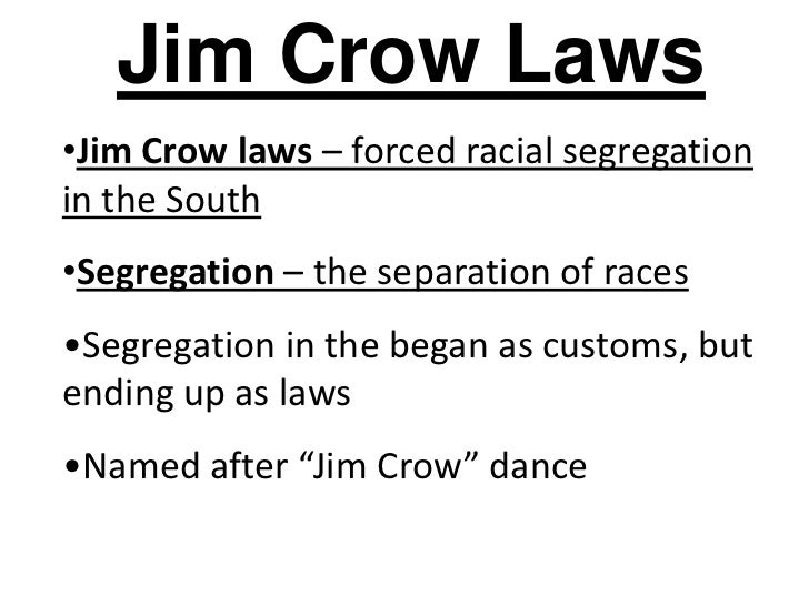 6.5 rise of jim crow and segregation