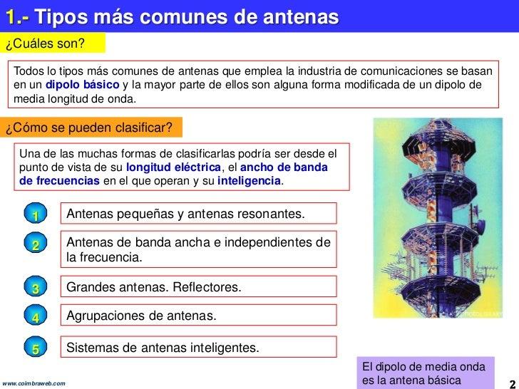 6.5 Tipos mas comunes de antenas Slide 2