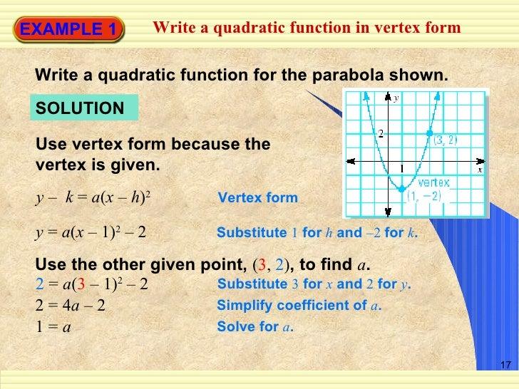 Write A Quadratic Equation With 3 Points