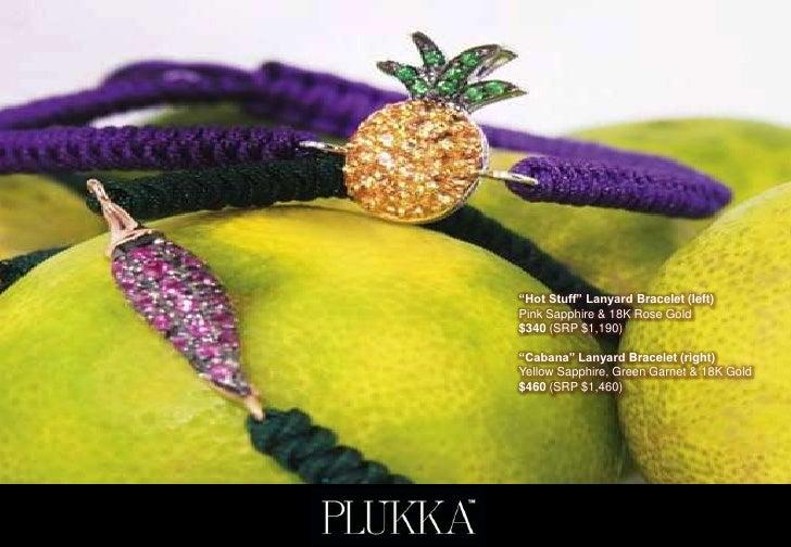 """Hot Stuff"" Lanyard Bracelet (left)Pink Sapphire & 18K Rose Gold$340 (SRP $1,190)""Cabana"" Lanyard Bracelet (right)Yellow S..."