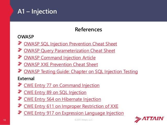 OWASP Top 10 2017 rc1 - The Ten Most Critical Web