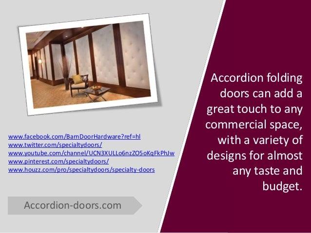 Commercial Accordion Doors In Action