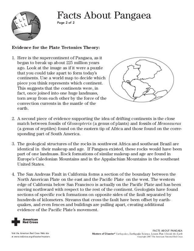6 8 inside the earth – Pangea Worksheet