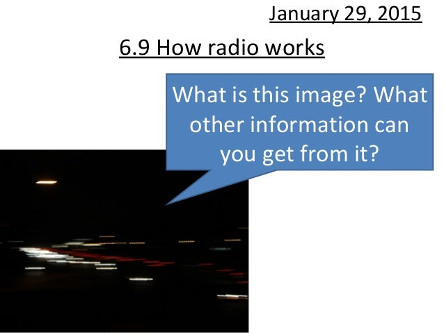 6.9 How radio works January 29, 2015 What is this image? What other information can you get from it?