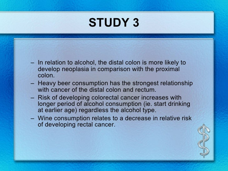 6 Alcohol And Colorectal Cancer