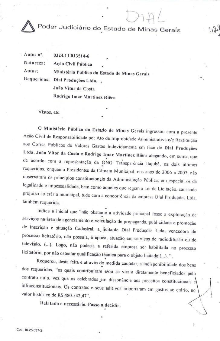Ação Civil Pública - Dial e Riêra