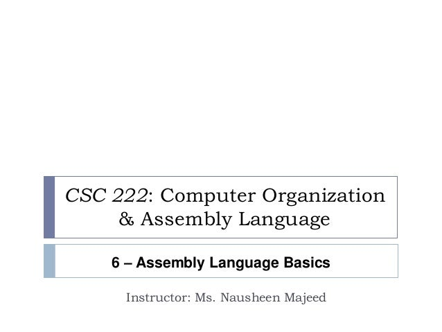 Learn the assembly language tutorial