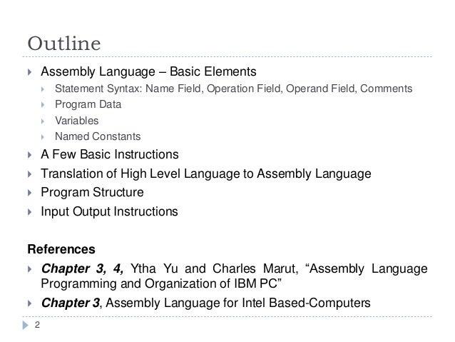 Assembly Language Basics