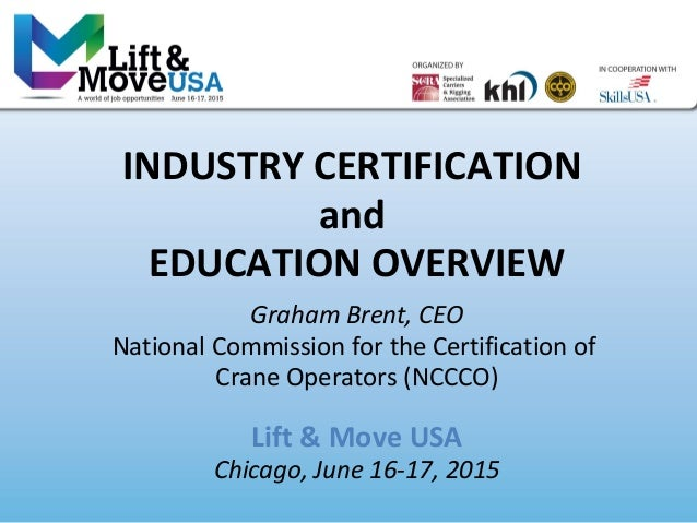 2015 Lift Move USA Industry Certification And Education