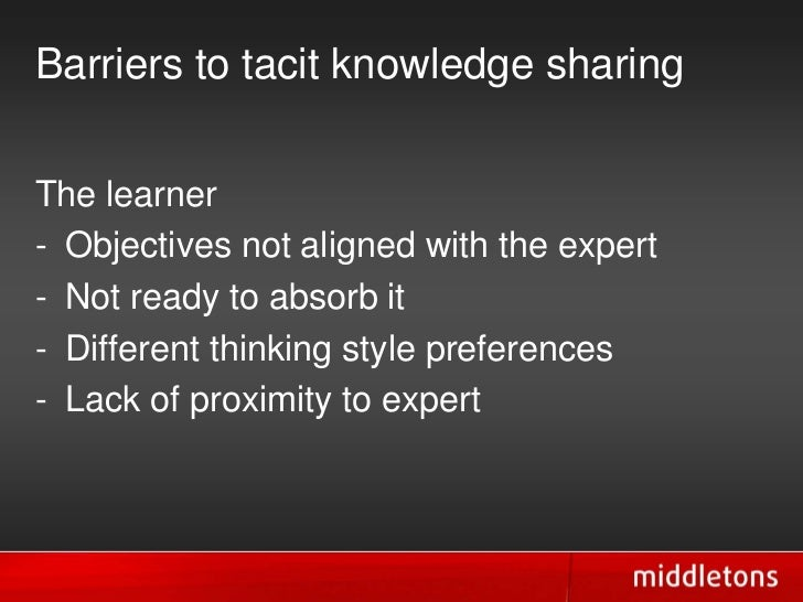 tacit knowledge transfer in the mentor protégé Tacit knowledge is the harder knowledge to share  if a protege's mentor does not have the preparation to anticipate these changes and is not responding to .