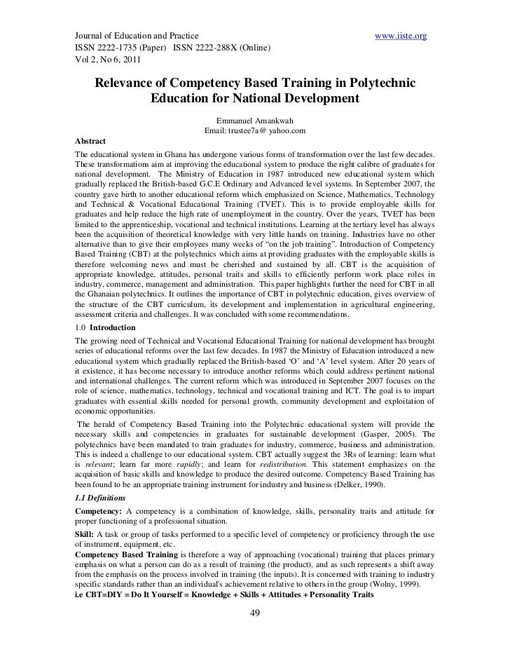 Journal of Education and Practice                                                           www.iiste.orgISSN 2222-1735 (P...