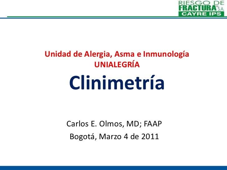 6. clinimetría cayre 2011