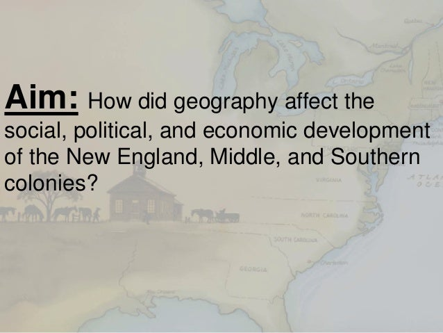 Major Differences Between the Colonies