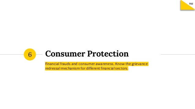 FETP Session 6 - Consumer Protection