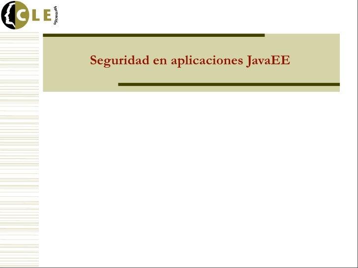 Seguridad en aplicaciones JavaEE