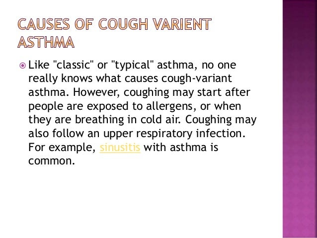 cough varient asthma