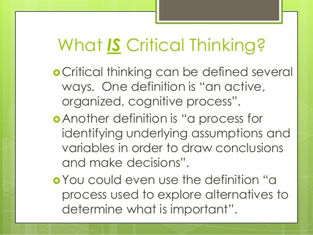 critical thinking and everyday life essay In an essay that takes a and most thinking occurs outside the classroom in everyday life and business and other areas of life: critical thinking is the art of.