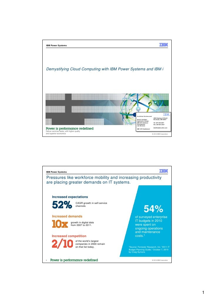 IBM Power SystemsDemystifying Cloud Computing with IBM Power Systems and IBM i                                            ...
