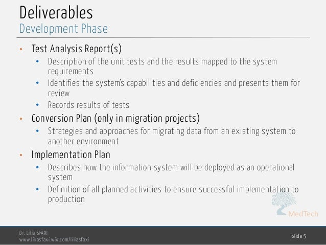 MedTech Deliverables • Test Analysis Report(s) • Description of the unit tests and the results mapped to the system requir...