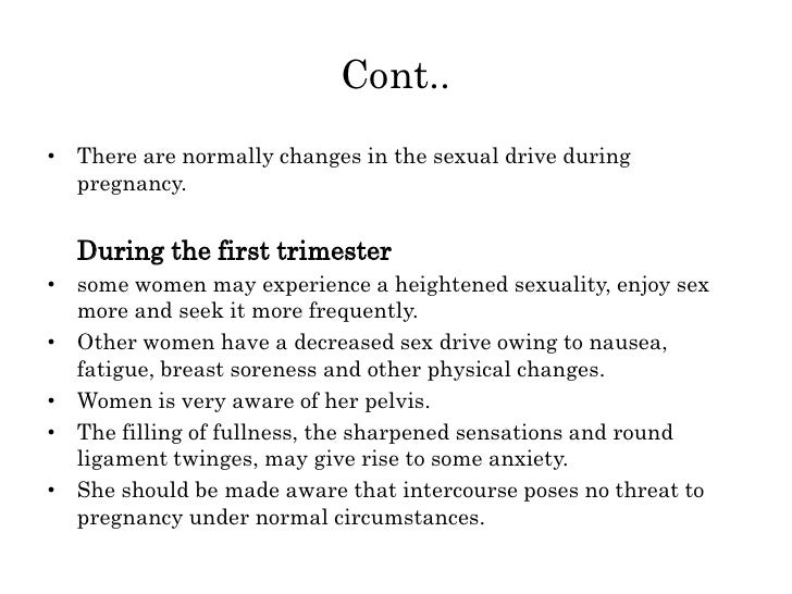 sex during first trimester of pregnancy