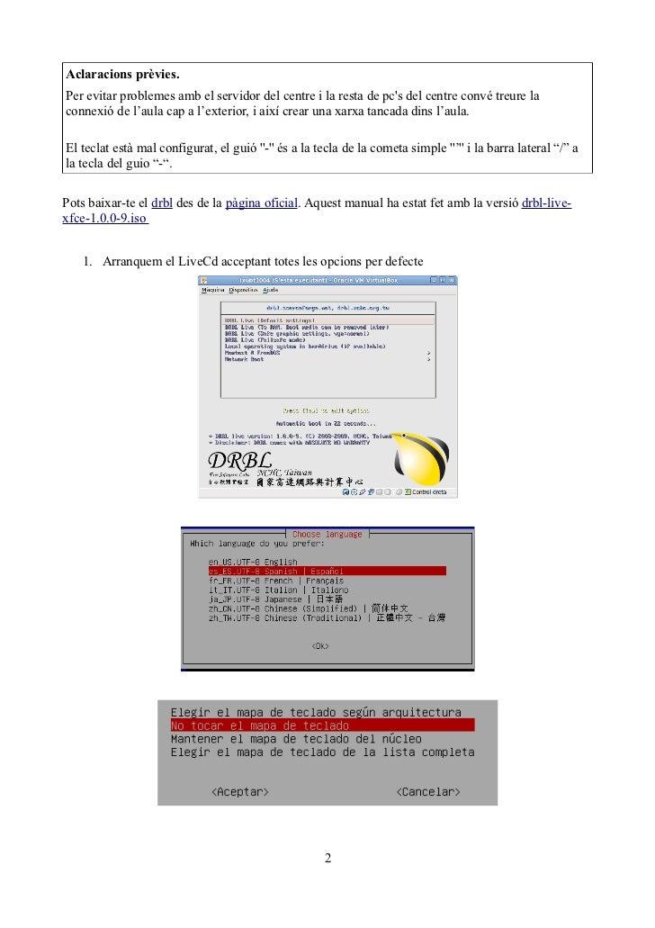 Aclaracions prèvies.Per evitar problemes amb el servidor del centre i la resta de pcs del centre convé treure laconnexió d...