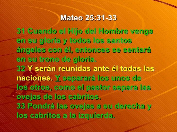 Resultado de imagen para Mateo 25,31-33