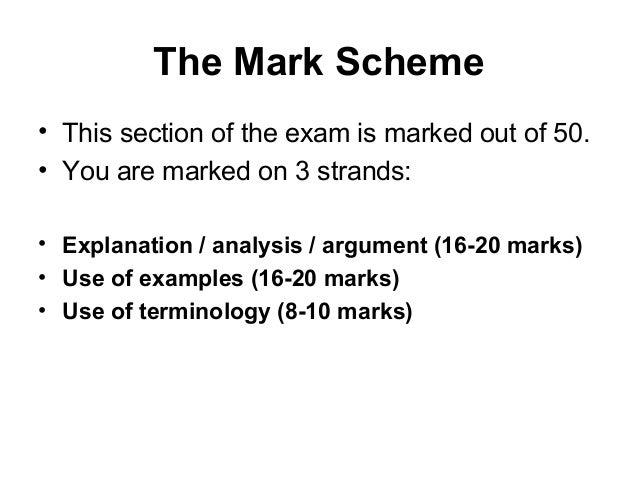 Psa marking scheme for essay