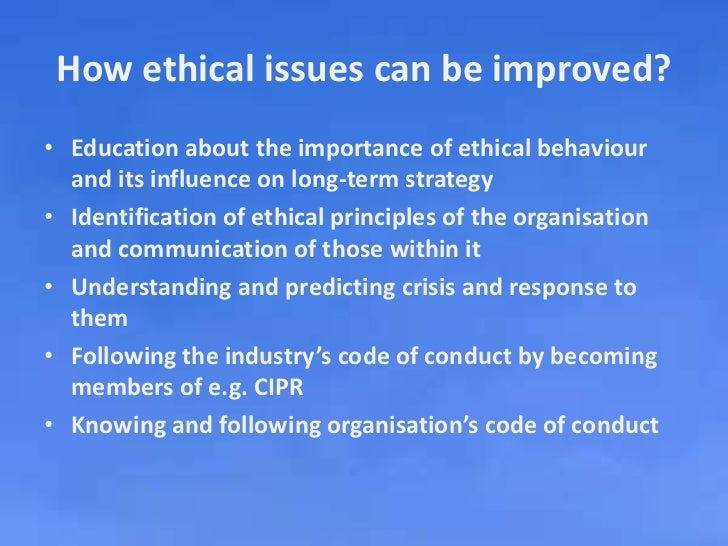 the important ethical issues and Ethical issues to consider ethical issues to consider  following is a list of the three most important ethical concerns related to working with student subjects: informed consent – any research participant has the right to be fully informed about the nature of the project, how the results will be used and shared, any potential risks.